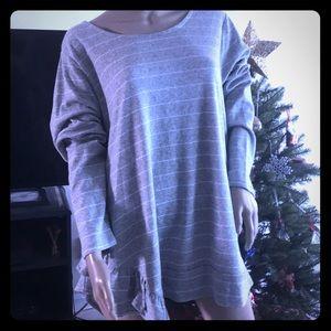 Lane Bryant NWT sweatshirt with ruffle hem
